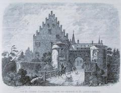 Château - Deutsch: Stich mit der Abbildung des Schlosses Osthausen