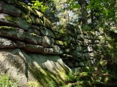 Mur païen -  Un aspect du Mur Païen.