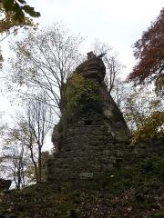 Ruines du château Ochsenstein - English: Top of keep of the castle of Grand Ochsenstein, Bas-Rhin, France.
