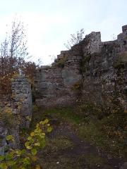 Ruines du château Ochsenstein - English: South building of the castle of Grand Ochsenstein, Bas-Rhin, France. View from South