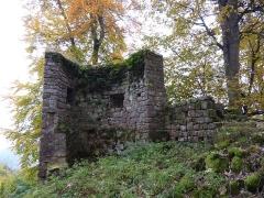 Ruines du château Ochsenstein - English: Grand Ochsenstein castle, Bas-Rhin, France. Wall tower.