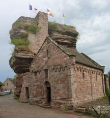 Ruines du château de Hohbarr ou Haut-Barr - Deutsch: Romanische Burgkapelle von Haut Barr aus dem 12. Jahrhundert.
