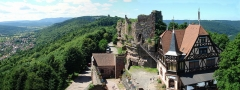 Ruines du château de Hohbarr ou Haut-Barr -  Panorama Château du Haut-Barr