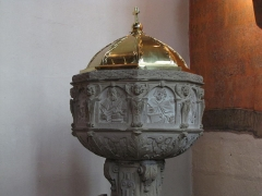 Eglise paroissiale Notre-Dame-de-la-Nativité - This object is classé Monument Historique in the base Palissy, database of the French furniture patrimony of the French ministry of culture,under the referencesPM67000290 and IM67004291.