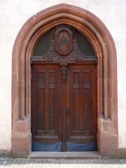 Ancien couvent des Récollets et église Saint-Antoine-de-Padoue -  Alsace, Bas-Rhin, Saverne, Église Saint-Antoine de Padoue (PA00084955, IA00055457): Porte d\'entrée principale.