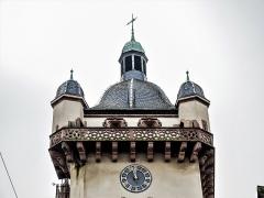 Tour dite Tour Neuve ou Tour de l'Horloge - Français:   Toiture de la tour de l\'horloge de Sélestat