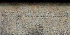 Chemin de croix -  Alsace, Bas-Rhin, Still, Mont-Calvaire, Chemin de croix (1789): Plaque explicative.