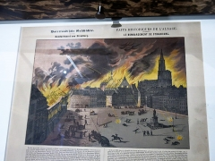 Bâtiment de l'Aubette - English: Bombing of Strasbourg around the place Kléber (august 24th 1870). Museum of history in Strasbourg (Bas-Rhin, France).