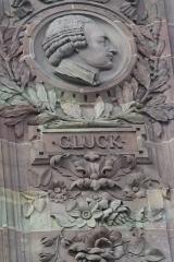 Bâtiment de l'Aubette - Français:   Médaillon des portraits de musiciens célèbres: Gluck
