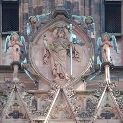 Cathédrale Notre-Dame - Détail de la façade de la cathédrale Notre-Dame de Strasbourg (Bas-Rhin, France).