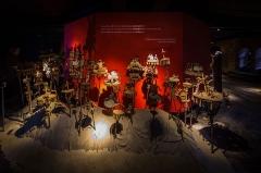 Château d'eau -  Musée Vodou collection Arbogast Strasbourg mai 2014. Ensemble d'autels Asen. Population Fon, Bénin, 20e siècle. Métal et matières sacrificielles.