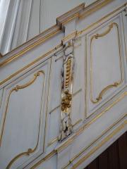 Eglise protestante Sainte-Aurélie - Français:   Décor végétal de la rampe d\'accès à la chaire (église Sainte-Aurélie de Strasbourg)