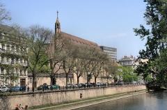 Eglise catholique Saint-Jean-Baptiste -  Église et quai Saint-Jean de Strasbourg