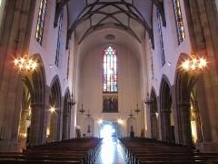 Eglise protestante Saint-Pierre-le-Vieux - Alsace, Bas-Rhin, Église Saint-Pierre-le-Vieux de Strasbourg (PA00085031): Vue intérieure de la nef.