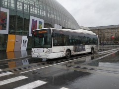 Gare ferroviaire centrale - Français:   Irisbus Citelis 12 GNC n°415, sur la ligne 10 à la Gare de Strasbourg