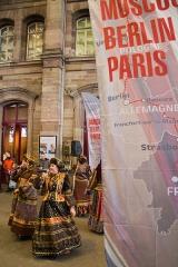 Gare ferroviaire centrale - Français:   Inauguration de la liaison ferroviaire Paris-Strasbourg-Moscou en gare de Strasbourg le 9 avril 2013.