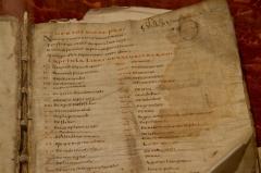 Grand Séminaire - Bède le Vénérable, De naturis rerum (Ms 31/3), page de titre (IXe-Xe s.), à la bibliothèque du Grand Séminaire de Strasbourg. Conservateur: Louis Schlaefli.
