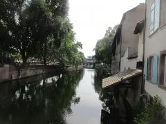 Maison - Français:   Vue depuis le Pont du Faisan, 1 rue des Moulins, Strasbourg