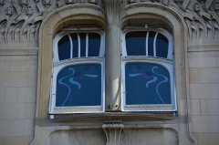 Immeuble - English: Art Nouveau window on a 1903 residential building in Strasbourg