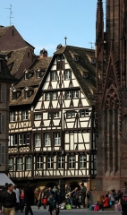 Immeubles - English: Strasbourg - Place de la Cathédrale