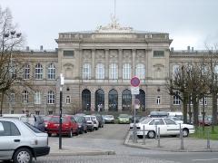 Palais Universitaire - Deutsch: Straßburg im Elsass, Frankreich: Hauptgebäude der Universität am Universitätsplatz