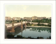 Palais Universitaire -  The University and bridge Strassburg Alsace Lorraine Germany
