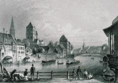 Pont Saint-Thomas - Deutsch: Die St Thomas Bruecke zu Strassburg
