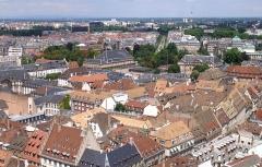 Théâtre municipal, actuellement Opéra du Rhin - Alsace, Bas-Rhin, Strasbourg, Vue de la Cathédrale vers place Broglie et place de la République.