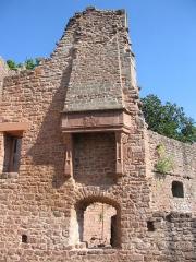 Ruines du château Wangenbourg -  Château de Wangenbourg (XIIIe siècle). Détail cheminée