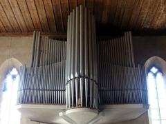 Eglise protestante Saint-Jean-l'Evangéliste - Alsace, Bas-Rhin, Wissembourg, Église protestante Saint-Jean, place Martin Bucer (PA00085246, IA67008033).  Orgue Ernest Muhleisen (1961-2013): http://decouverte.orgue.free.fr/orgues/Orgues de St-Jean, Wissembourg