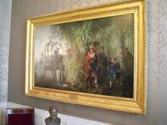 Musée Bartholdi - Français:   Noce alsacienne surprise par la pluie, tableau de Gustave Jundt