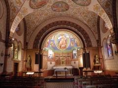 Ancien château impérial dit de Saint-Léon-Pfalz, ancien château des évêques de Strasbourg - Français:   Intérieur de la chapelle Saint-Léon à Eguisheim (Haut-Rhin, France).