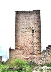 Ruines des châteaux de Weckmund et de Wahlenbourg - Français:   Tour du château de Wahlenbourg, vue du côté est.