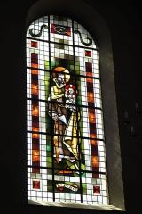 Eglise catholique Saint-Martin - Deutsch: Kirche Saint-Martin in Masevaux im Département Haut-Rhin (Elsass/Frankreich), Bleiglasfenster, Darstellung: Joseph mit Jesuskind