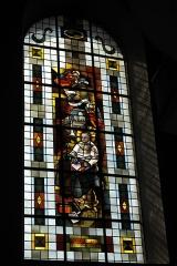 Eglise catholique Saint-Martin - Deutsch: Kirche Saint-Martin in Masevaux im Département Haut-Rhin (Elsass/Frankreich), Bleiglasfenster, Darstellung: Papst Johannes XXIII.