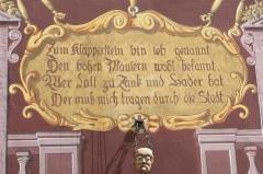 Ancien hôtel de ville, actuellement Musée historique - English: the klapperstein of Mulhouse