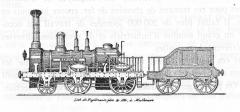 Immeubles entourant le square de la Bourse - Français:   Locomotive Thann des ateliers Stehelin & Huber (par erreur, la locomotive porte le nom \