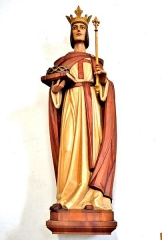 Place d'Armes Général-de-Gaulle (anciennement Place Centrale) - Français:   Statue de Saint Louis, dans l\'église.