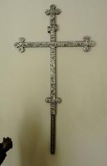 Ancienne halle au blé - Français:   Alsace, Haut-Rhin, Rouffach, Musée du Baillage(Halle aux blés), place de la République. Croix de procession, dite \