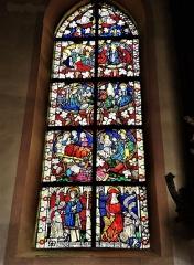 Eglise catholique Saint-Dominique - Français:   Vitrail de la Vierge, daté de 1466
