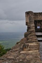 Château de Hohlandsberg ou Hohlandsbourg -  Le chemin de ronde et la plaine d'Alsace