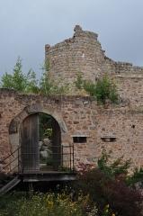 Château de Hohlandsberg ou Hohlandsbourg -  Entré du chateau haut