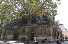Eglise Saint-Leu-Saint-Gilles - Français:   Église Saint-Leu-Saint-Gilles vue depuis le boulevard de Sébastopol (Paris, 1er).