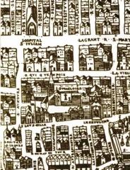 Eglise Saint-Leu-Saint-Gilles - English:   Olivier Truschet and Germain Hoyaux: Plan de Paris dit \