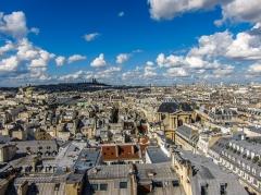 Eglise Saint-Roch -  View from Grande roue des Tuileries, Paris.