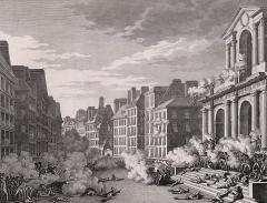 Eglise Saint-Roch -  Attaque de la Convention nationale. Insurrection royaliste du 13 vendémiaire an IV (5 octobre 1795), fusillade devant l'église Saint-Roch