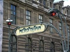Métropolitain, station Palais-Royal -  zelfgemaakte foto
