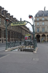 Métropolitain, station Palais-Royal -  Metro station @ Paris