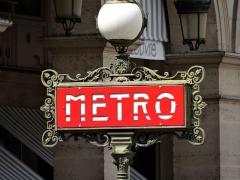 Métropolitain, station Palais-Royal -  Saint-Germain-l'Auxerrois, Paris, France
