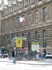 Métropolitain, station Palais-Royal -  Palais Royal - Musée du Louvre (Paris Metro)